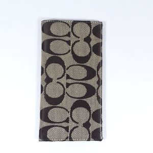 Coach Checkbook Cover Flip Wallet